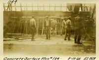 Lower Baker River dam construction 1925-08-10 Concrete Surface Run #184