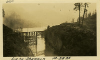 Lower Baker River dam construction 1925-10-28 Lake Shannon (with railroad trestle)