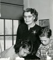 1949 Pearl Merriman With Students