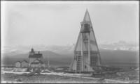 Ediz Hook bell tower and lighthouse