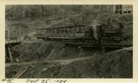 Lower Baker River dam construction 1924-09-25 Access bridge