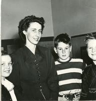 1949 June McLeod With Students