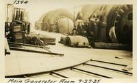 Lower Baker River dam construction 1925-09-27 Main Generator Room