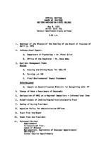 WWU Board minutes 1975 May