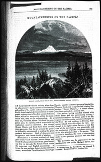 Mountaineering on the Pacific (copy of page 1 of article from Harper's New Monthly Magazine)