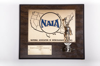 Basketball (Women's) Plaque: NAIA District 1 Champions, 1983