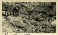Lower Baker River dam construction 1924-10-10 Excavation at dam site