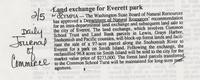 Land exchange for Everett Park