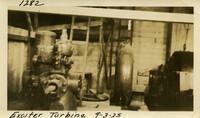 Lower Baker River dam construction 1925-09-03 Exciter Turbine