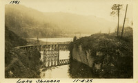 Lower Baker River dam construction 1925-11-04 Lake Shannon (with railroad trestle)