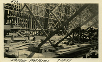Lower Baker River dam construction 1925-07-15 4th Floor Wall Forms