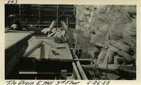 Lower Baker River dam construction 1925-06-26 Tile Drain E. Wall 3rd Floor