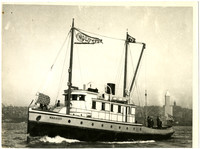 A close-up of cannery tender the Warrior in Elliott Bay