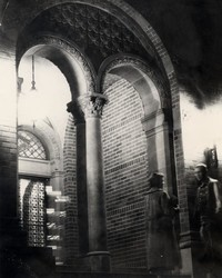 1950 Library: North Doors at Night