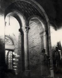 1950 Library: North Doors at Night