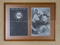 Hall of Fame Plaque: Cathy Johnson Evans, Softball, Class of 2011
