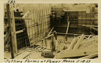 Lower Baker River dam construction 1925-05-18 Setting Forms at Power House