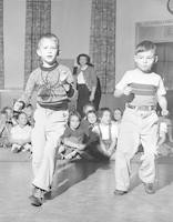 1950 First Grade Boys Dancing at Assembly