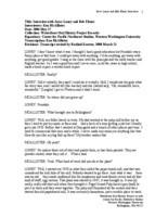 Jarve Loney and Bob Elsner oral history interview (transcript)