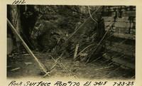 Lower Baker River dam construction 1925-07-23 Rock Surface Run #170 El.3415