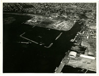 Aerial view of downtown Bellingham taken from the south