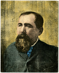 Color print of studio portrait of Nelson Bennett.