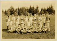 Fairhaven High School boys track team pose on athletic field