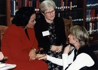 1996 Coretta Scott King with President Karen W. Morse