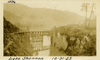 Lower Baker River dam construction 1925-10-31 Lake Shannon (with railroad trestle)