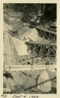 Lower Baker River dam construction 1924-09-04 Excavation of powerhouse