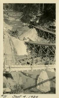 Lower Baker River dam construction 1924-09-04 Excavation of powerhouse