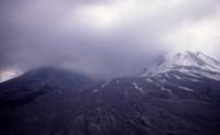 Blast area north of crater.