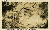 Lower Baker River dam construction 1925-08-14 Excavating for Intake