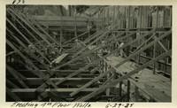 Lower Baker River dam construction 1925-06-29 Erecting 4th Floor Walls
