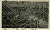 Lower Baker River dam construction 1925-06-29 Erecting 4th Floor Walls