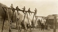 1911 Training School Swings with Sehome Hill in Background