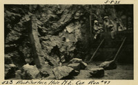 Lower Baker River dam construction 1925-05-08 Rock Surface Hole N.E. Cor. Run #97