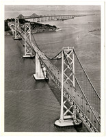 Aerial view of the San Francisco - Oakland Bay Bridge