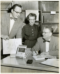 Frank Geri, Dick Green and unidentified woman
