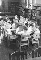 1940 Seventh Grade Class in Library (Class 7-C)