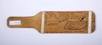 Football Paddle: Signed Paddle commemorating Bellingham - Ellensburg Game (back), 1924