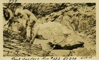 Lower Baker River dam construction 1925-06-13 Rock Surface Run #132 El.258