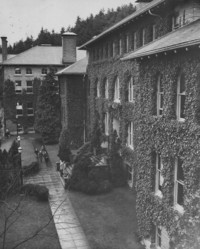 1947 Main Building: Side View of Front