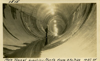 Lower Baker River dam construction 1925-10-22 Main Tunnel Looking North from Sta 7+20