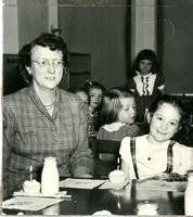 1949 Synva Nicol With Students