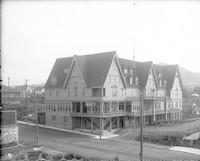 View of Baker Hotel in downtown Bellingham, WA.