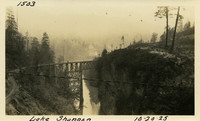 Lower Baker River dam construction 1925-10-20 Lake Shannon (with railroad trestle)