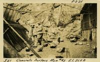 Lower Baker River dam construction 1925-05-03 Concrete Surface Run #92 El.265.8