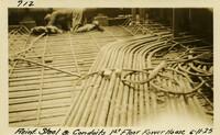 Lower Baker River dam construction 1925-06-11 Reinf Steel & Conduits 1st Floor Power House