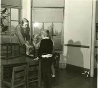1947 Irene Elliott With Students